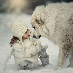 L'amour entre un enfant et son chien !