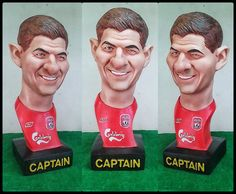 Steven Gerrard.Resin.Bust Statue Caricature by BUDAMODEL on Etsy