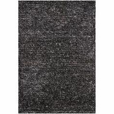 Hand-woven Mandara Black/ White Shag Rug (5' x 7'6) | Overstock.com Shopping - Great Deals on Mandara 5x8 - 6x9 Rugs