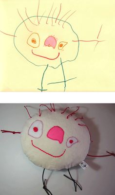 Children's drawing turned into a doll. Is this cute or what?