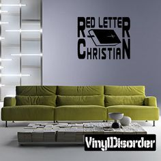 Red letter christian Wall Decal - Vinyl Decal - Car Decal - DC224
