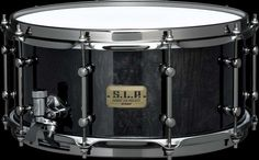"""#Tama LMB1465 Power Maple: This combination of a 6.5"""" depth maple shell and a 42-strand Snappy #Snare gives this #drum a powerful, open, and resonant sound. A beautiful maple burl outer ply complemented by our Midnight finish is a perfect match with the black nickel hardware. Suggested musical styles: Hard Rock & Rock"""