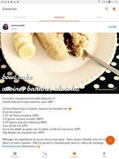Bowl, C'est Bon, Cake, Ethnic Recipes, Banana, Morning Breakfast, Recipe, Pastel, Kuchen