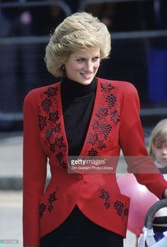 Princess Diana During A Visit To Hyde Park In London