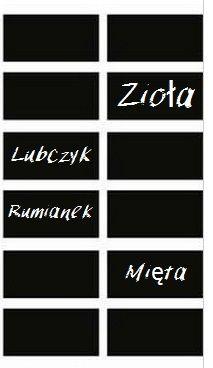 Selbstklebeetiketten für das Schreiben mit Kreide von Manufaktura - Wlepka auf DaWanda.com