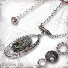 Deep Space Steampunk Necklace - Za Dee Da - The Time Traveller Collection - Dimensions in Time. $62.00, via Etsy.