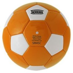 Tachikara SM4SC dual colored soft PU soccer ball, size 4 (orange/white). by Tachikara. $10.34. Dual colored, PU man made leather soccer ball that is perfect for elementary ages. Intermediate size and weight. Size 4
