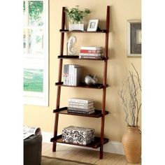 Delaris 5-Tier Ladder Shelf - IDF-AC6213WH