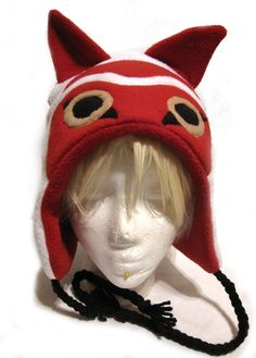 Hey, I found this really awesome Etsy listing at https://www.etsy.com/listing/186074874/princess-mononoke-inspired-fleece-hat