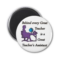 Teacher's Assistant Fridge Magnet x2