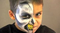 Skull Face Paint Video Tutorial by Jinny—Face Painting Tips  Maquillaje terrorífico calavera