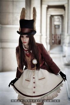 Steampunk white rabbit.