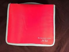"""Remington """"All That"""" Red Cloth Rag Bendable Rollers Travel Case H 2032 Pageant 