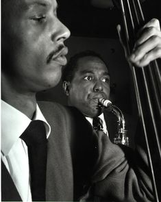Charlie Parker and Tommy Potter | [photographer unknown]