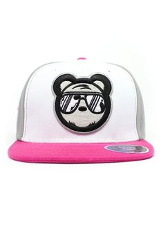 Pink Snapback a bold addition any snapback collection. The Raspberry Bear Swagger snapback available now at www.bearswagger.com