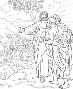 Jesus Feeds The Multitude With Fish And Bread Coloring Page From Mission Period Category Select 28403 Printable Crafts Of Cartoons Nature