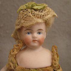 "German Kling Model 123 Bisque Doll House Doll 5.75"""
