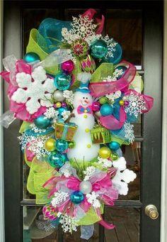 Snowman wreath idea