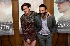 Pin for Later: Nicholas Hoult Makes a Special Visit at Kristen Stewart's Big Premiere  Kristen shared a laugh with Peyman Moaadi on the red carpet.