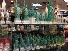 Statues of Liberty in New York souvenir store