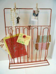 Industrial Display Rack Vintage Office Craft by VintageBroad, $19.00