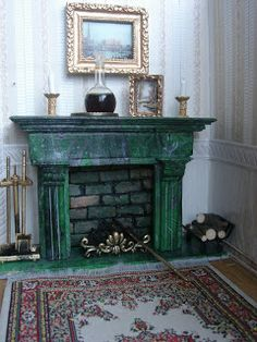 Мастер класс My little little dream: Миниатюрный камин для букиниста. Miniature fireplace for bibliopole.