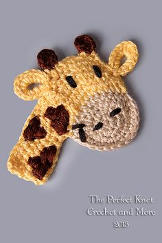 Ravelry: Freddie or Lola Giraffe Applique pattern by The Perfect Knot - Michelle Kovach.