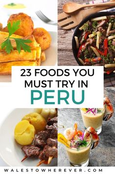 Wondering what to eat in Peru? There's no shortage of delicious foods to try in Peru, the world's leading culinary destination. But with so many delicious Peruvian Dishes, Peruvian Cuisine, Peruvian Recipes, Ceviche, Peru Travel, Travel Tips, Travel Europe, Travel Usa, Travel Destinations