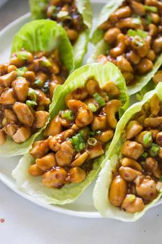 Cashew Chicken Lettuce Wraps that are better-than-take-out and made from scratch in less than 30 minutes! Grilled chicken smothered in the tastiest general-tso-inspired sauce with crunchy cashews, spooned into a crisp green lettuce cup. Asian Recipes, Healthy Recipes, Healthy Meals, Cashew Recipes, Easy Chinese Recipes, Diet Meals, Healthy Dishes, Thai Recipes, Healthy Chicken