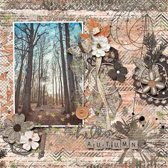 Hello, autumn - Digi Waiting For Autumn Hello Autumn, Digital Scrapbooking, Waiting, Artsy, Layout, Templates, Create, Shop, Stencils