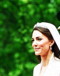 So.Elegant. Kate Middleton/Duchess of Cambridge in the Royal Wedding #royals #tiara #jewels
