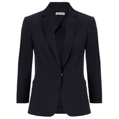 Buy Whistles Eva Cotton Pique Blazer, Navy from our Women's Coats & Jackets range at John Lewis & Partners. Fashion Essentials, Navy Online, Skinny Jeans, Blazer, Whistles, Chic, Cotton, How To Wear, Stuff To Buy