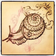 Miss Juliet...Tattoo,Draw and Life: Snail Sketch Tattoo