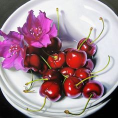 Flowers and Cherries by Lillemut on deviantART - Oil on Canvas