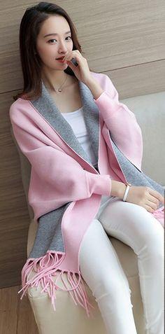 [S$13.90](▼77%)Cape shawl coat female autumn and winter cloak loose large size bat sleeveless knit shirt ladies