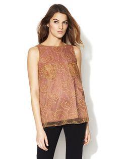 D Dolce & Gabbana Embroidered Metallic Lace Top @Gilt.com