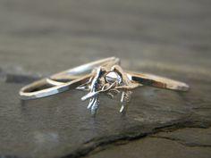 Sterling Silver Bird Rings   Silver by SerendipityHandcraft