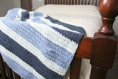 The Dude Blanket crochet pattern is part of my Dude Collection of designs for men and boys. The Dude Blanket is simple, durable, and easy to make! All Free Crochet, Love Crochet, Beautiful Crochet, Double Crochet, Crochet Flowers, Crochet Baby, Afghan Crochet Patterns, Crochet Afghans, Crochet Blankets