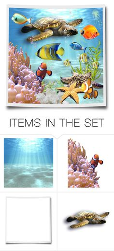 """""""Under the deep blue sea"""" by riri-thatsme ❤ liked on Polyvore featuring art"""