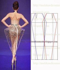 Moldes Moda por Medida: TRANSFORMAÇÃO DE SAIA-12