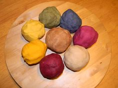 Homemade Playdough Recipe using natural dyes!
