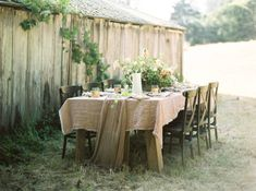 Rustic Green and Blush Wedding Table | photography by http://rachelgomez.com/