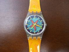Vintage swatch watch Rising Star LK135NEW in by MimisClayCreations, $50.00