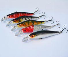 Fishing Lure Super Price Tackle 3D Eyes Minnow 5pcs/lot 8.5cm 8g