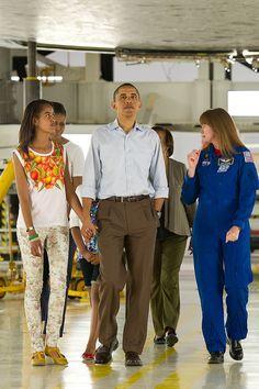 President Barack Obama & Family Visit to Kennedy Space Center