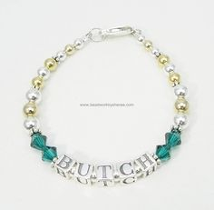 Mothers Bracelet in Sterling Silver and Gold Fill with Swarovski Crystals