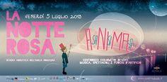 Notte Rosa 2013 dedicata a Federico Fellini, il cittadino più illustre della Riviera romagnola.
