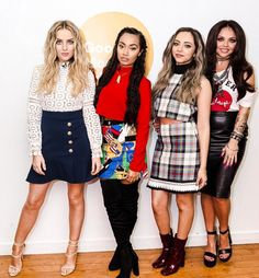 Little Mix at the Good Morning Britain studios, 9th February. - perrie and leigh anne's style