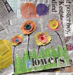 Easy Paper Crafts for Kids and AdultsHere we have tried to group our Paper Craft ideas by type! Origami for Kids Newspaper Crafts. Paper Quilling Ideas Coloring Pages for grown ups. Spring Art, Summer Art, Spring Crafts For Kids, Art For Kids, Arte Elemental, Flower Vase Making, Newspaper Crafts, Newspaper Flowers, Paper Crafts For Kids