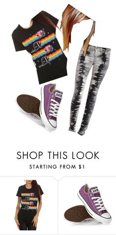 """""""julia"""" by skylar-suicide ❤ liked on Polyvore featuring ELSE, Converse, Joe's Jeans, skinnys, nyan cat, quizazz, quotev, black, julia and scenem emo"""